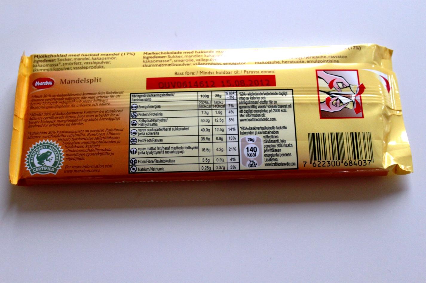 kalorier i kexchoklad